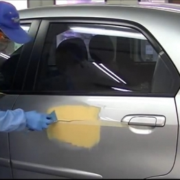 Matting process in automotive repair paint
